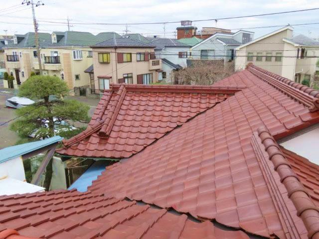 千葉県 習志野市の和風瓦葺き直し工事