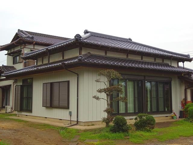 千葉県 市原市の和風瓦葺き替え工事