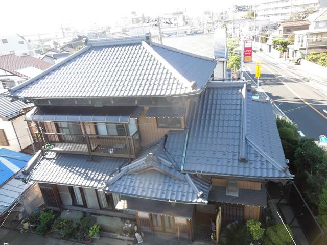千葉県習志野市の和瓦から金属屋根への葺き替え