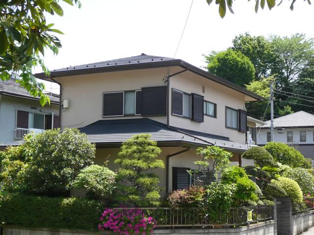 千葉県習志野市の金属、平葺き(コロニアルにカバー工法)