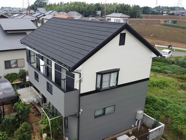 スレート屋根をカバー工法